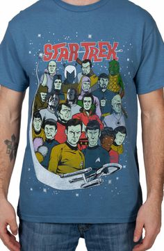 Characters Star Trek Shirt: 80s Movies Star Trek T-shirt