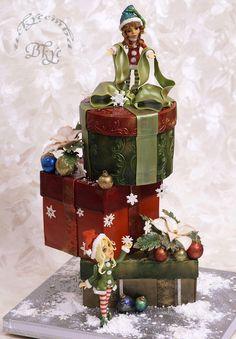"""Cake """"The Mystery of little elves"""" Tatiana Kryachko"""