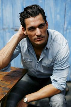 David Gandy in denim
