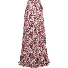 Just Cavalli Printed crepe de chine maxi skirt (2,500 AED) ❤ liked on Polyvore featuring skirts, multi, long colorful skirts, maxi skirt, long skirts, ankle length skirt and multi color skirt