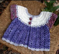 Instagram. PICTURE ONLY for inspiration. Crochet baby cardi.