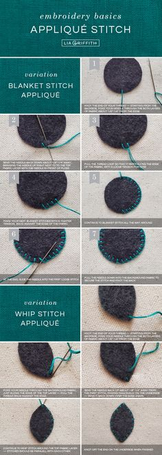 Beginner's Guide to Embroidery Basics Applique Stitches, Embroidery Stitches Tutorial, Hand Embroidery Patterns, Embroidery Techniques, Embroidery Applique, Cross Stitch Embroidery, Wool Applique, Simple Embroidery, Embroidery For Beginners