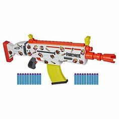 NERF Fortnite AR-Durrr Burger Motorized Blaster -- Customizing Stickers, 20 Darts, Clip -- for Youth, Teens, . Cool Nerf Guns, Panda Nursery, Vera Bradley, Armadura Cosplay, Nerf Darts, Nerf Toys, Lego Minecraft, Outdoor Toys, Toy Sale