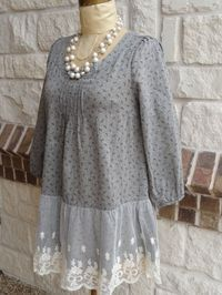 add a band of lace at the bottom of a blouse - http://www.diyhomeproject.net/add-a-band-of-lace-at-the-bottom-of-a-blouse