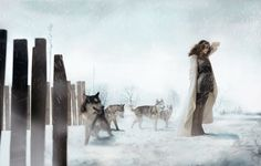 woman & wolves by eugenio recuenco