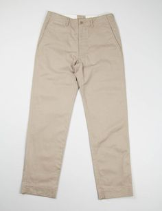 the bureau belfast . eg workaday - khaki twill 41 khaki pant