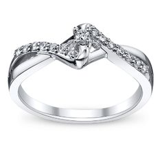 Classic diamond promise ring.