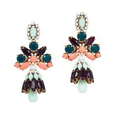 Crystal shade earrings