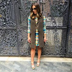"""Loving this super comfy plaid dress and my statement vest of the season that will be on major repeat!!  Get outfit details when you register at @liketoknow.it and """"like"""" this pic! Or type this exact link into your browser: www.liketk.it/1HUYh #liketkit #fallfashion #bohostylefile #ootd #trending by bohostylefile"""
