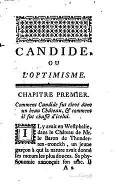 1761 - Candide, ou L'optimisme, Voltaire , R. de Boutain