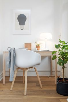 Home Office Inspiration! Workspace Inspiration, Interior Inspiration, Home Office Space, Office Nook, Desk Office, Office Furniture, Style At Home, Scandinavian Interior, Scandinavian Style