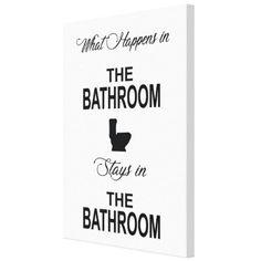 Tablou Canvas - What Happens in the Bathroom - Monkeez Shit Happens, Canvas, Home Decor, Tela, Decoration Home, Room Decor, Canvases, Home Interior Design, Home Decoration