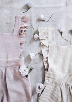 Handmade Linen Pinafore Dresses | LaPetitePersonneShop on Etsy