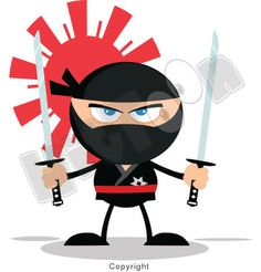 Ninja Cartoon Mascot Characters by Chud Tsankov, via Behance