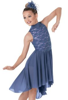 9a7a70b4b95c Weissman™ | Stretch Lace Mock- Turtleneck Dress Cute Dance Costumes, Ballet  Costumes,