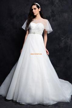 Krajkový vzhled Lodičkový výstřih Tyl Levné svatební šaty