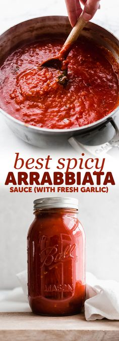 4 Points About Vintage And Standard Elizabethan Cooking Recipes! Best Ever Arrabbiata Sauce - My Homemade Arrabbiata Sauce Is So Delicious You'll Make It Regularly Tons Of Ways To Serve This And It Freezes Beautifully Homemade Tomato Sauce, Tomato Sauce Recipe, Homemade Pasta Sauces, Italian Tomato Pasta Sauce, Chutneys, Dessert Crepes, Dessert Halloween, Gastronomia, Thanksgiving