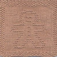 Gingerbread Man Knit Dishcloth Pattern