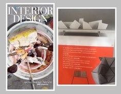 Thanks @intdesmag for featuring our #Iceland bench in the Spring Tabloid