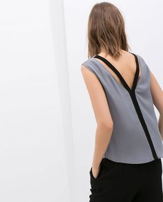 ZARA - COLLECTION AW14 - TOP WITH STRAPS AT THE BACK