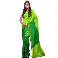Green Uppada Silk Handloom Saree with Rich Pallu Design u1088