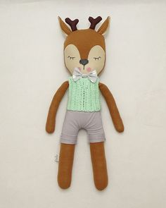 This MiMiu deer is totally unique toy & decoration. He is made with great attention to detail. I use high quality & naturals materials and double