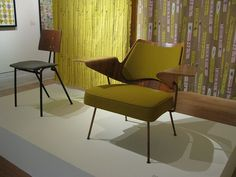 Robin Day chair and Lucienne Day Fabric by charmaine*, via Flickr