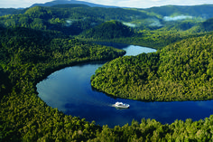 Courtesy of World Heritage Cruises, you can experience this unique pocket of Tassie's west in style and comfort—aboard the purpose-built Lady Jane Franklin II.