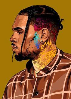 Chris Brown Tattoo, Chris Brown Art, Lion Wallpaper, Cartoon Wallpaper, Chris Brown Wallpaper, Anime Rapper, Rasta Lion, One Piece Manga, Cartoon Art