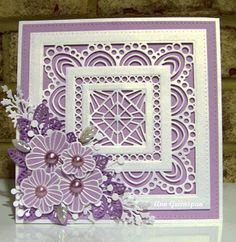 Ann Greenspan's Crafts: Purple Atlantic Ocean Background with Striped Nasturtiums