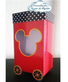 Caixa carrinho de pipoca.  Temos outros temas.  Dimensões aproximadas. Mickey Mouse, Nike, Popcorn Stand, Party, Box, Baby Mouse