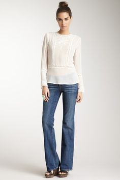 Such a chic casual weekend look!  Pride Bootcut Jean - Long on HauteLook