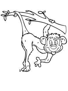 monkey make funny monkey face coloring page