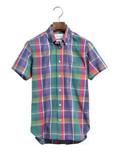 MADRAS CHECK SHIRTS Check Shirt, Styles, Button Down Shirt, Men Casual, My Love, Mens Tops, Shirts, Products, Fashion