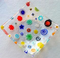 Murrano glass plate with Millefiori, Steve and I bought a plate in Venice when we visited in 2003