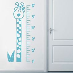 Giraffe Height Chart   Wall Decals Stickers Part 70