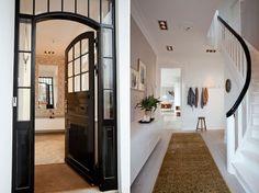love the black door and railing