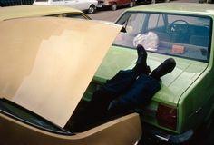 Taking a nap in a car Trunk, 1978. Richard Kalvar