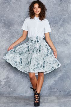 Friends Forever Yoke Midi Skirt - LIMITED ($99AUD) by BlackMilk Clothing