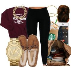 🙊💦Freshman😍😘 by honey-cocaine1972 on Polyvore featuring UGG Australia, Michael Kors, Topshop and Melissa Odabash