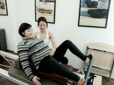 임산부(7개월) 필라테스 with 리포머,스파인서포터
