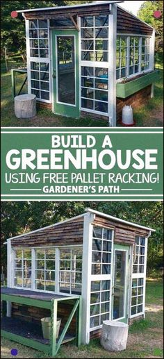 Shed DIY - Here is a bunch of solid reasons why your yard could use the addition of a greenhouse, with 15 inexpensive pallet greenhouse plans designs to choose from. Now You Can Build ANY Shed In A Weekend Even If You've Zero Woodworking Experience! Pallet Greenhouse, Backyard Greenhouse, Pallets Garden, Greenhouse Ideas, Greenhouse Wedding, Homemade Greenhouse, Cheap Greenhouse, Pallet Gardening, Greenhouse Plants