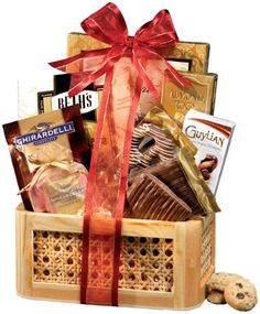 Chocolate Gift Basket Supreme - A Gourmet Gift Basket Idea Chocolate Gifts Chocolate Truffles  sc 1 st  Pinterest & 14 Best Chocolate Gift Baskets images | Xmas gifts Christmas ...