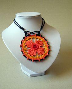Oranžový kotúč... / Bunadruhu - SAShE.sk - Handmade Náhrdelníky