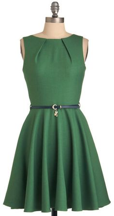 Closet - UK Luck Be a Lady Dress in Green