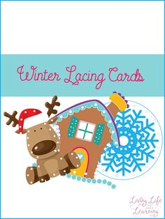 A great activity to practice fine motor skills: winter lacing cards. Create your own fine motor activity with these printable winter lacing cards. Preschool Christmas, Diy Christmas Cards, Christmas Activities, Preschool Crafts, Preschool Winter, Preschool Printables, Christmas Ideas, Winter Activities For Kids, Toddler Activities