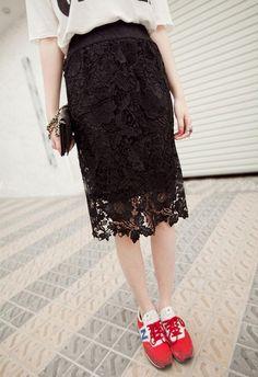 White Lace Midi Skirt 6XL 7xl Plus Size Women Summer saias femininas Floral office/party Evening bodycon pencil skirt