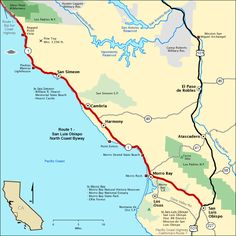 Route 1 - San Luis Obispo North Coast Byway - Map | America's Byways