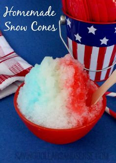 Homemade Snow Cones are perfect for the upcoming holiday!!