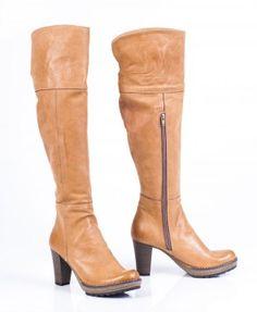 Kozaki dla kobiet wykonane z naturalnej skóry, Zapato #zima #styl